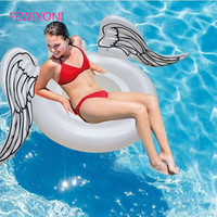 2018 giant inflatable angel wings 180 * 100cm swimming pool floating adult floating row children swimming ring water sports