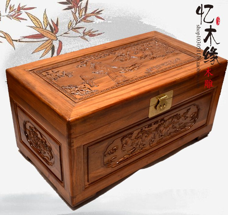 Camphor wood furniture carved wooden suitcase special offer and marriage dowry box storage box box manufacturers selling dongyang woodcarving camphor wood furniture wood carved camphorwood box suitcase box antique calligraphy collection box insect d