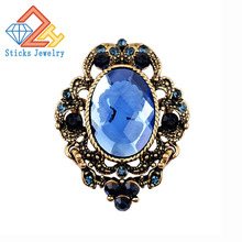 Fashion Vintage Jewelry Cameo Brooch Pin Beauty Queen Crystal Rhinestone Christmas Brooch Antique Gold Silver For Women