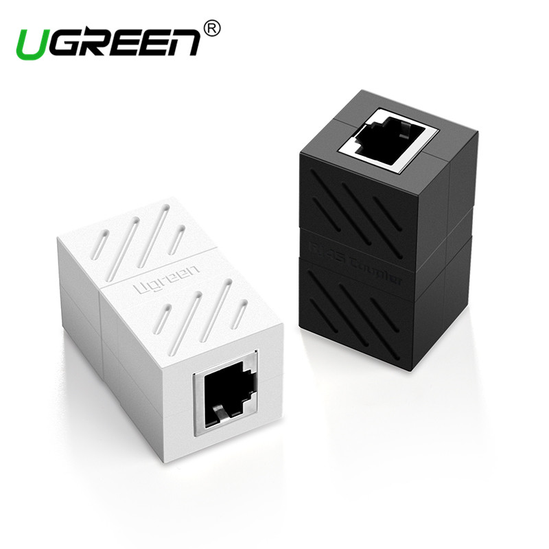 Ugreen RJ45 Connector Cat7/6/5e Ethernet Adapter 8P8C Network Extender Extension Cable for Ethernet Cable Female to Female rj45 female to female network ethernet lan connect adapter coupler extender ethermet cable connector black