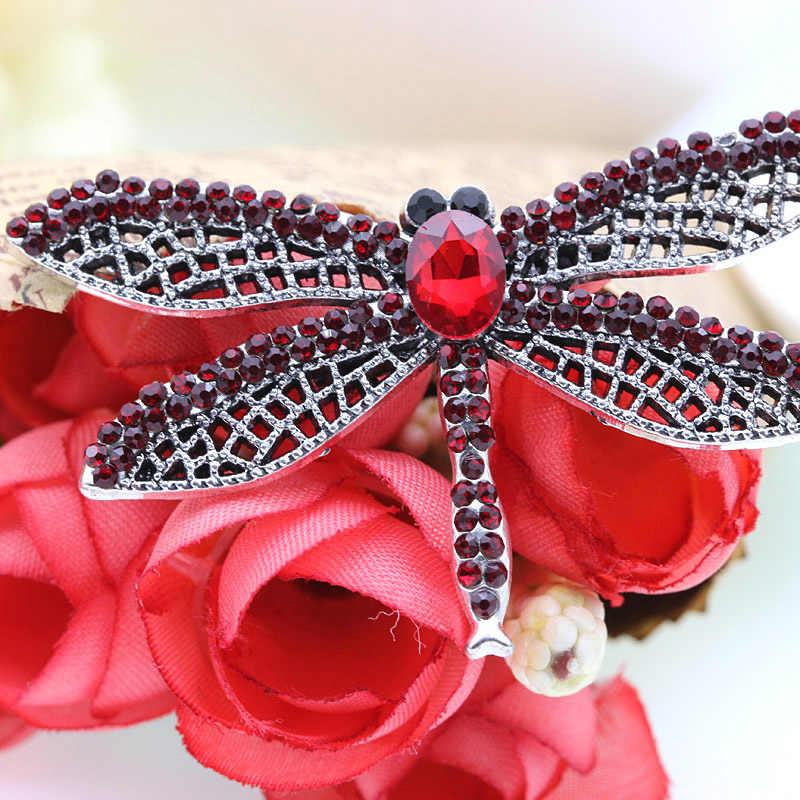 Dream Candy 3 couleurs cristal libellule broches pour femmes à la mode strass broche broche costume accessoires bijoux animaux offres spéciales
