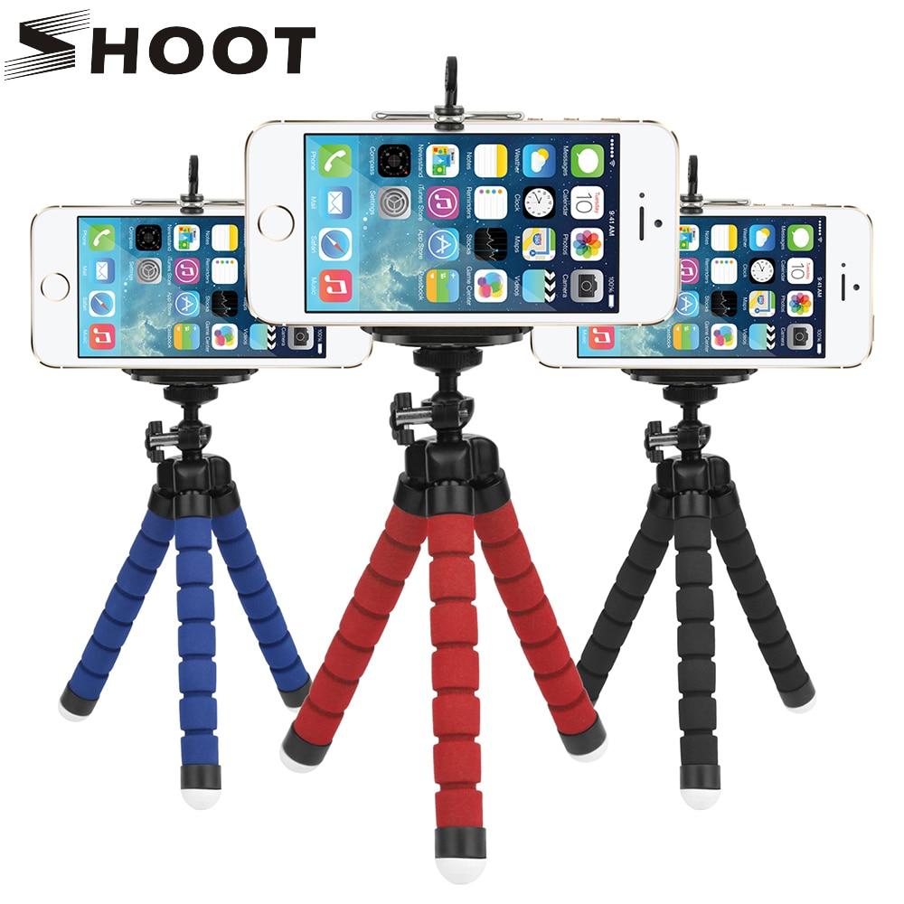 SCHIEßEN Flexible Krake Stativ Für Gopro Xiaomi Yi 4 Karat SJCAM Dslr Mit Handy Clip Tablet Ständer Montieren Für Mobile...