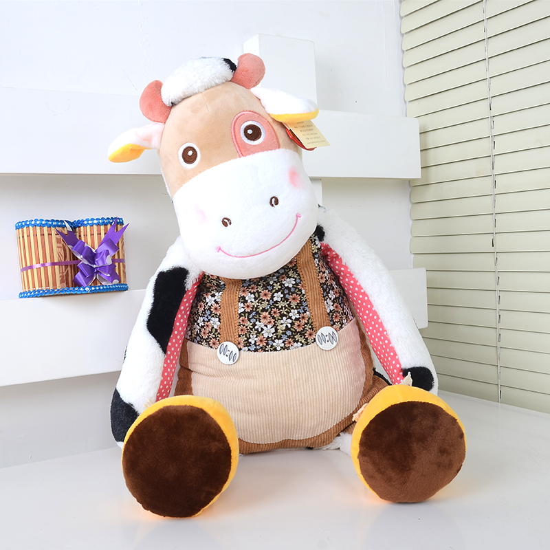 Plush toy stuffed doll cute animal cattle cow duck sheep donkey  Christmas Valentine's Day birthday gift 1pc fancytrader giant stuffed plush donkey toy big soft animal donkey pillow doll for sale nice birthday gift
