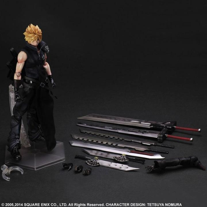 ФОТО high quality final fantasy cloud strife play arts pa 28cm pvc action figure toys model jouet brinquedos juguetes tifa lockhart