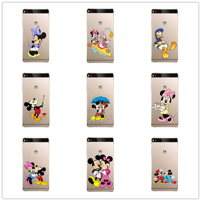 Donald Duck mickey Minnie's cell phone.TPU for huawei P8 P9 P10.Soft silicone