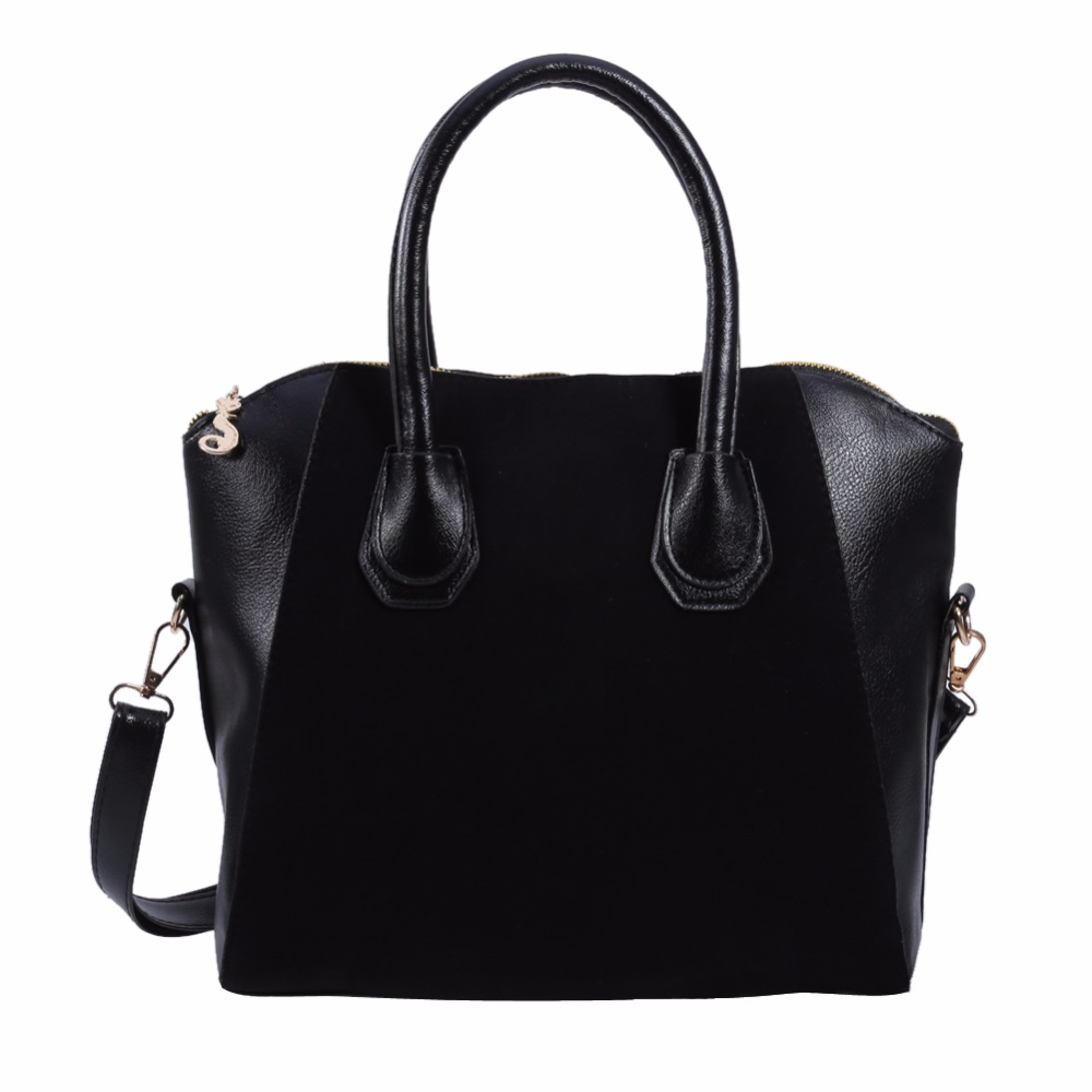 Fashion Women Leather Black Shoulder Bag Female Professional Tote Purse Handbag Ladies Simple Messenger Crossbody Satchel fashion women canvas stripe shoulder bag satchel crossbody tote handbag purse messenger gift wholesale bolsa feminine
