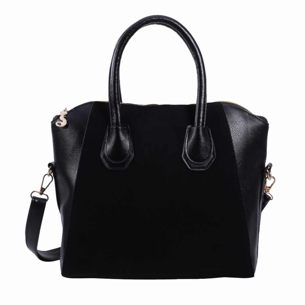 720e13493e Detail Feedback Questions about Fashion Women Leather Black Shoulder Bag  Female Professional Tote Purse Handbag Ladies Simple Messenger Crossbody  Satchel on ...