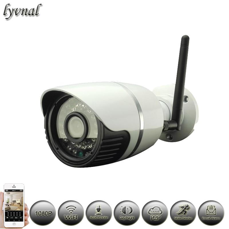 bilder für Audio Wifi Kamera 1080 P Wirless 2 MP Ip-kamera Netzwerk P2P Onvif CCTV-System Im Freien Überwachungskamera Wasserdichte NightVision