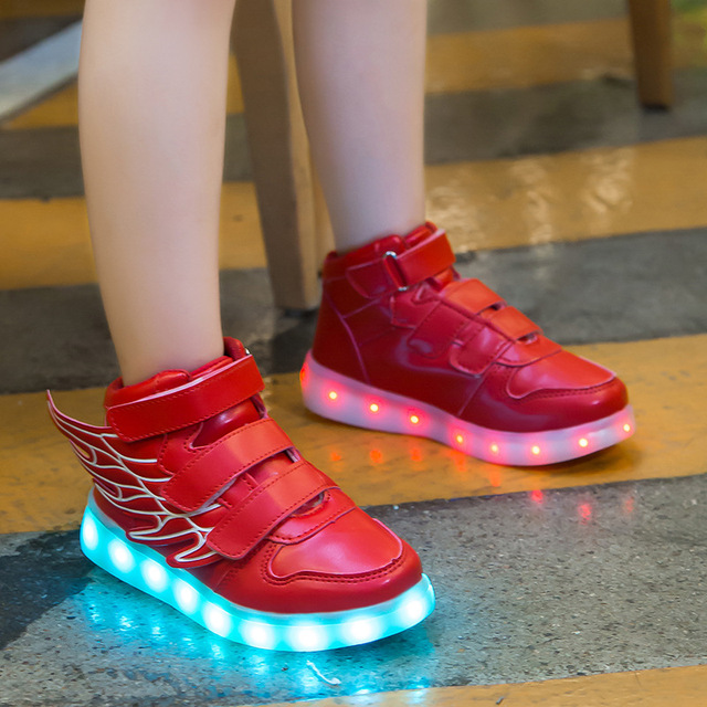 Smart Glowing Luminous USB Charging Light up Led Shoe 2