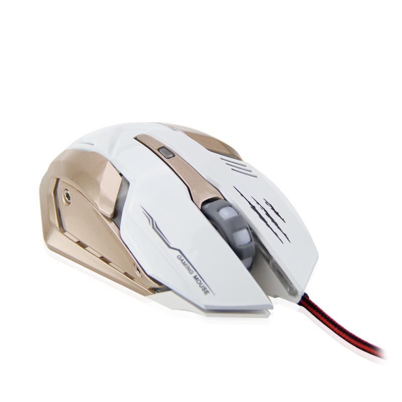 Professional Mouse 3000 DPI 6 Button LED Optical USB Wired Gaming Mouse for PC Pro Laptop