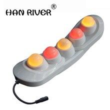 Забота о здоровье 5 шариков натуральный нефрит рукоять проект нагреватель POP расслабляющий PR-P05 нефритовый Дальний инфракрасный нагрев терапия массажное устройство