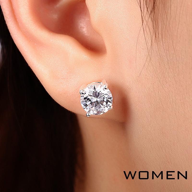 2 CT Diamond Stud Earrings