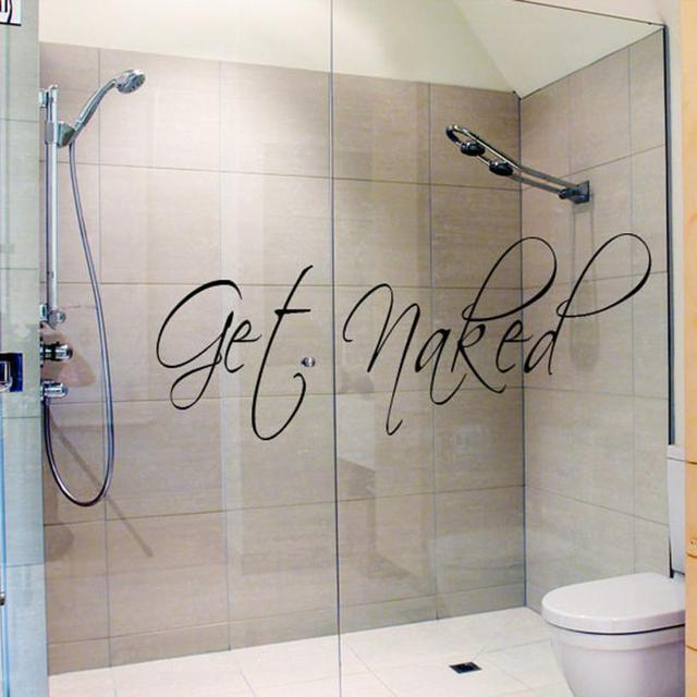 Get Naked Wall Decal Vinyl Bathroom Wall Art Stickers Wall stickers ...
