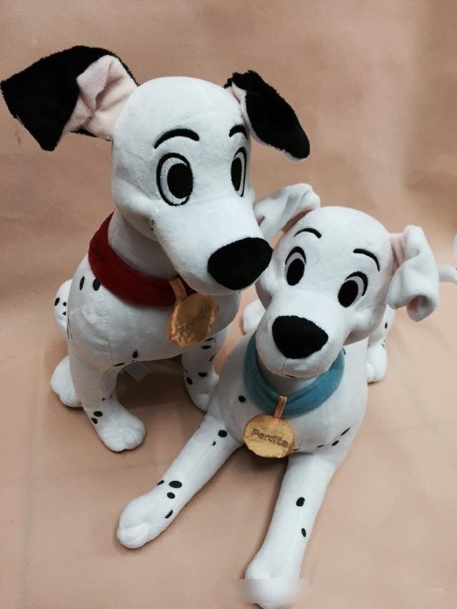 New Arrival Original 101 Dalmatians Animal Spot Dog Cute Big Soft Anime Plush Toy Doll Birthday Children Boy Girl Gift plush big tail animal toy for dog