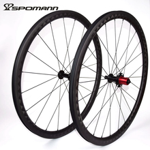 SPOMANN Carbon Fibre Bicycle wheel 700C Road Clincher Wheelset Super Light 35mm Carbon Bike wheels Parts 9 / 10 / 11 speeds