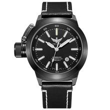 YELANG V1022 T100 Tritium Luminous Army Military Mens Automatic Mechanical Wrist Watch With ETA 2824-2 Automatic Movement-Black