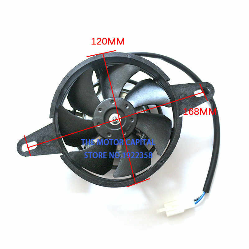 Oil Water Cooler Electric Radiator Cooling Fan For 200 250 Cc Chinese Atv Quad Go Kart