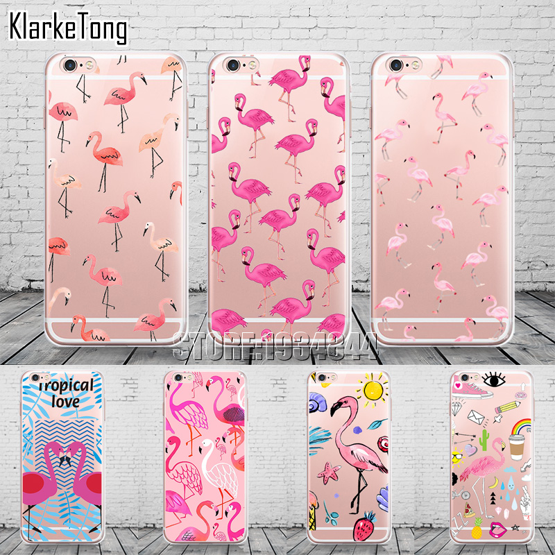New Fashion Soft Colorful Flamingo Case Cover For iPhone X