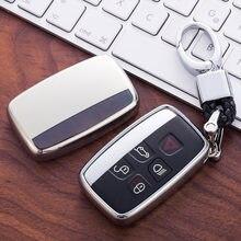 Tpu caso chave do carro capa para land rover a9 range rover sport 4evoque freelander 2 descoberta para jaguar xe xj xjl xf C-X16 guitarra