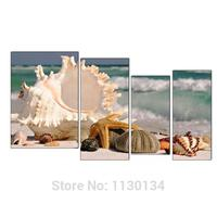 4 Pieces Full Embroidery Shells On The Beach Diy Diamond Painting Sea 3d Mosaic Square Diamonds