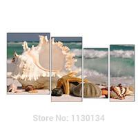 4 Pieces Full Embroidery Shells On The Beach Diy Diamond Painting Sea 3d Mosaic Square Diamonds