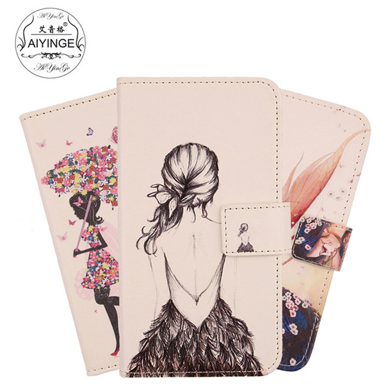 TienJueShi Cute Fashion Patter Protective Leather Cover Phone Case For  Unimax UMX U504tl U683CL 683 Pouch Shell Wallet Etui Skin