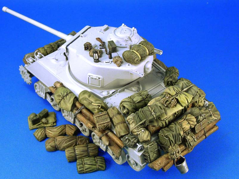 <font><b>1</b></font>/<font><b>35</b></font> Sherman Stowage set (<font><b>1</b></font>) not include tank toy Resin Model Miniature <font><b>Kit</b></font> unassembly Unpainted image