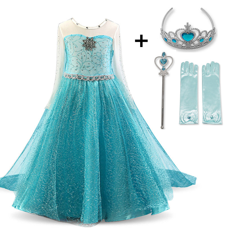 Cosplay Queen Elsa Dresses Elsa Elza Costumes Princess Anna Dress for Girls Party Vestidos Fantasia Kids Innrech Market.com