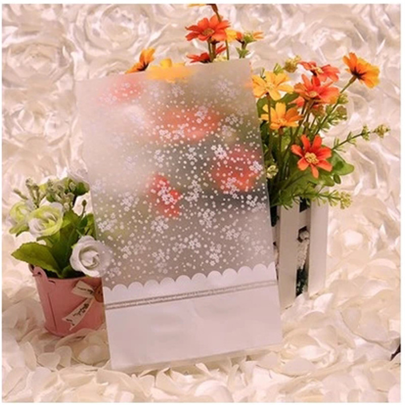 Zilue 50pcs/Lot Romantic Sky Stars Transparent Plastic Food Bags Hand Bags Baking Package Bread Bags 3 Sizes Home Supplies