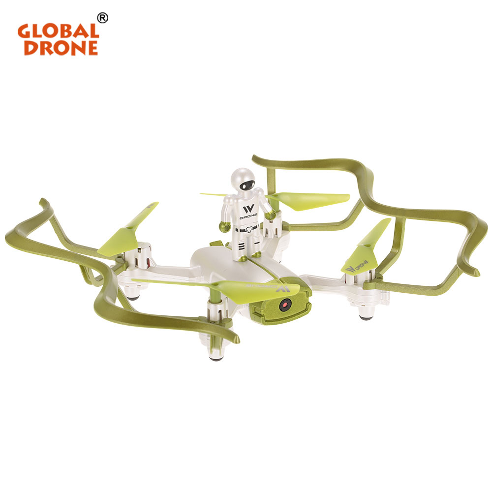 Global Drone W2 Wifi FPV Selfie Drone with Camera Gravity Sensor Headless Mode RC Quadrocopter Phone Control Dron Toy For Kids