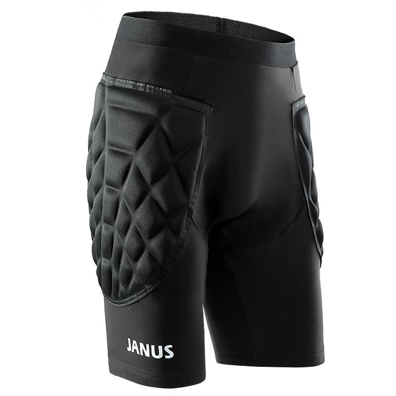 Men Basketball Football Soccer Goalkeeper Skating Foam Pads Jersey Top Pants Set