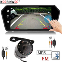 Koorinwoo Rca Video Touch Screen MP5 Player 7 Inch TFT LCD Colorful Mirror Monitor Car Rear View Camera Parking Backup Reverse