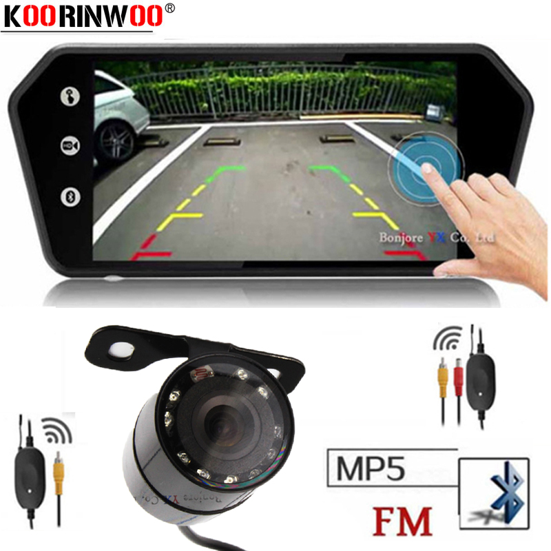 Koorinwoo Rca vidéo écran tactile MP5 lecteur 7 pouces TFT LCD coloré miroir moniteur voiture vue arrière caméra Parking sauvegarde inverse