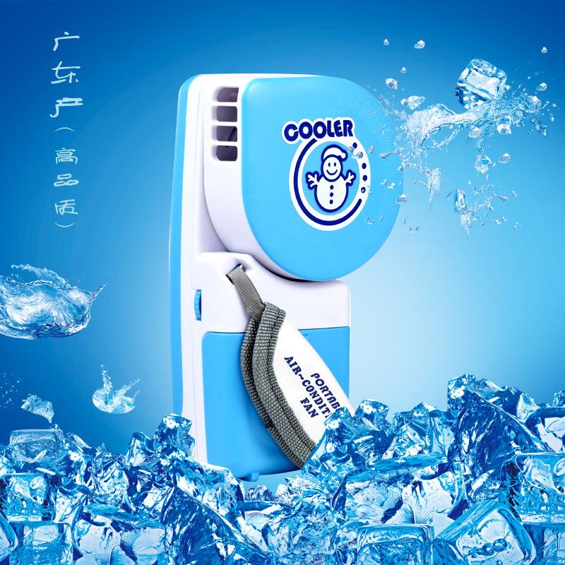 2018 Creative portable small water cooling spray mist fanUSB/ battery mini air conditioning bladeless fan