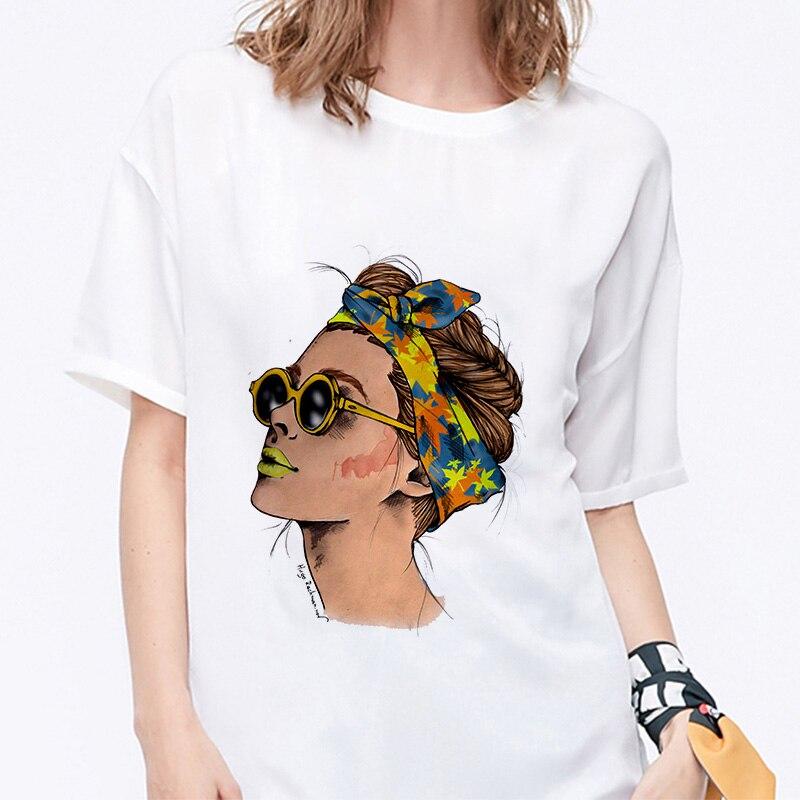 Summer 19 T shirt Women Harajuku Print Vintage Female Casual Fashion Tshirt O-neck Short Sleeve T-shirt White Tops Clothing 6