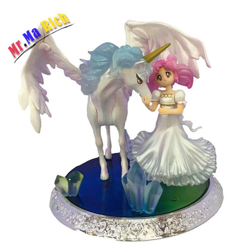 Marin lune zéro Tsukino Usagi petite dame sérénité aile cheval Anime Pvc Figure