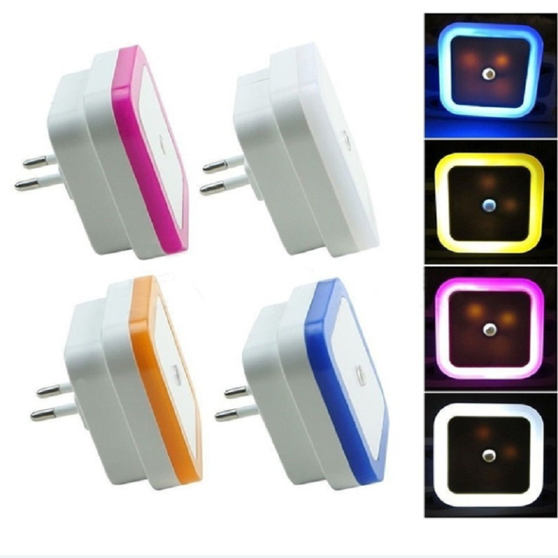 LED Night Light 110V 220V EU Plug US Plug Body Sensor Control Energy Saving Night Lamps in Night Lights from Lights Lighting