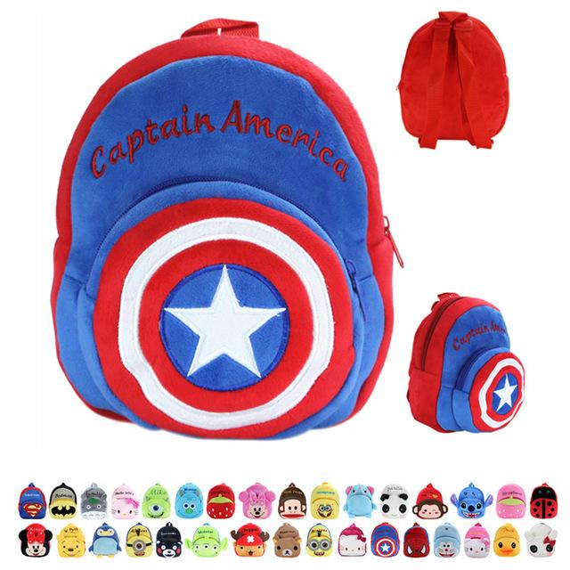 Sacos Crianças Backpack Crianças Escola Bags Animal Dos Desenhos Animados de pelúcia Sacos Bonitos KT Gato Dos Desenhos Animados Plush Doll Superhero Abelha Pequena Mochila