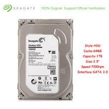 Oryginalny Seagate ST1000DM003 1 TB pojemności wewnętrzny dysk twardy 3.5 Cal SATA 3.0 64 MB pamięci podręcznej 7200 obr/min dysk twardy dla pulpit PC