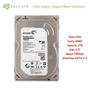 Image 1 - オリジナルシーゲイト ST1000DM003 1 テラバイト容量内蔵 Hdd 3.5 インチ SATA 3.0 64 メガバイトのキャッシュ 7200 Rpm ハードドライブディスクデスクトップ Pc