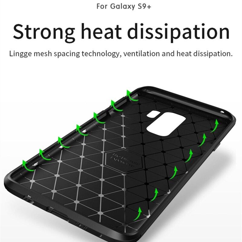 para Samsung S9 Funda IPAKY S9 Plus Funda de silicona TPU Fibra de - Accesorios y repuestos para celulares - foto 6