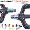 Удлинитель педалей из титанового сплава Новый дизайн высокая прочность гораздо безопаснее 16/20 мм BMX Mtb удлинитель педалей