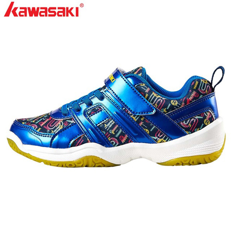 2019 Kawasaki Badminton Shoes For Kids Jogging Anti-Slippery Breathable Outdoor Child Sport Shoes Sneakers KC-15