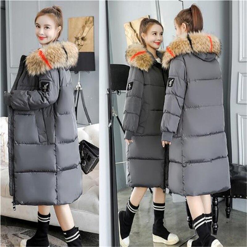 2019 женские зимние большие меховые парки с капюшоном женские толстые теплые хлопковые пальто женские ватные зимние куртки верхняя одежда плюс размер 7XL C812