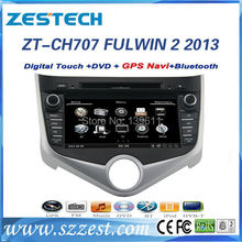 ZESTECH High performance dual-core HD digital touch screen car dvd for Chery FULWIN 2 2013 car dvd with radio,RDS,3G