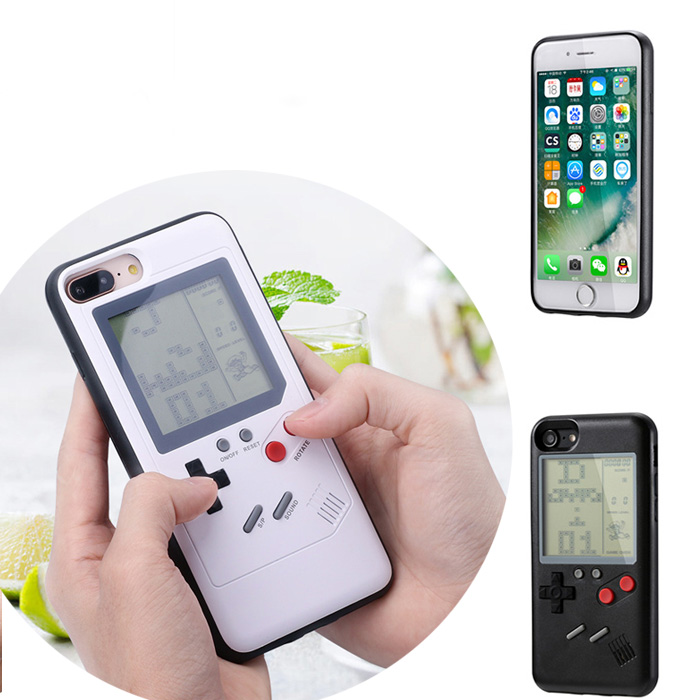 Retro Gameboy Tetris Phone Case for iPhone 8 7 6 6S Plus X Case Soft TPU Play Game Console Cover For Iphone X