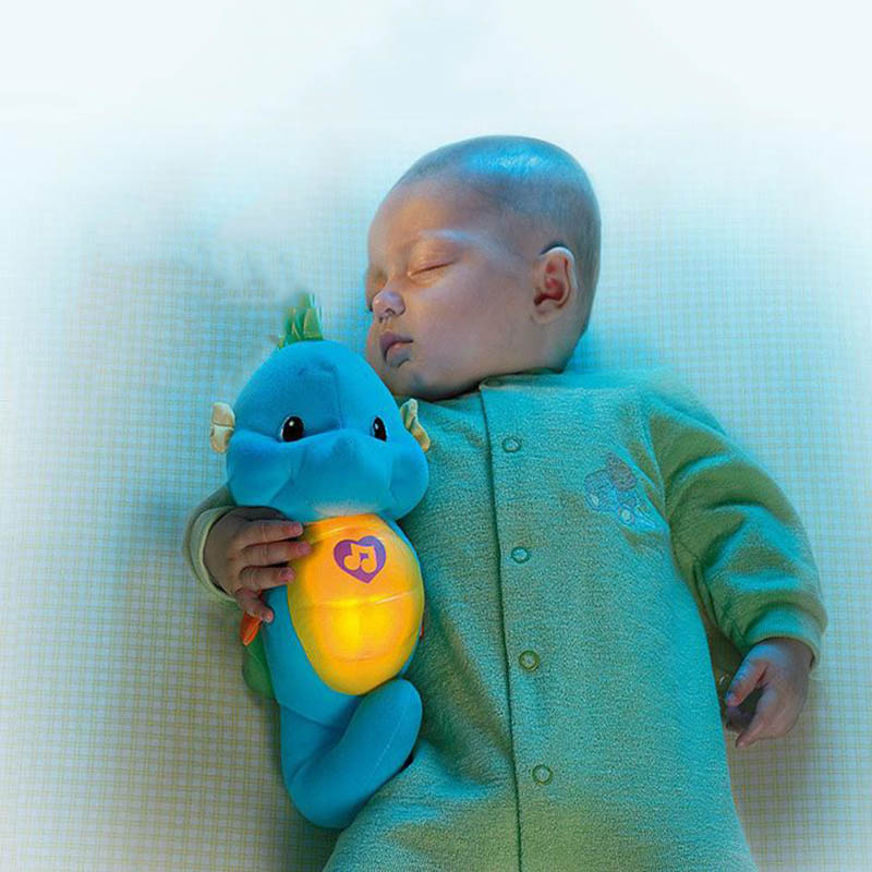 Cute Baby Toys Soft Plush Toys Doll Seahorse Musical Sound Toys BB Child Sleep Lamp Baby Appease Nightlight Enlightenment Toys