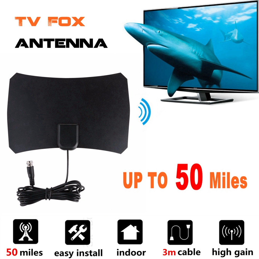 High Gain Indoor Digital TV Antenna HD TV Radius Antennas TV Surf Antena TV Fox Aerial Interior Amplifier DVB-T2/T UHF VHF Anten