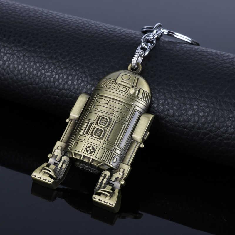Украшения на шею из брелок с принтом «Звездные войны» с принтом «The Force Awakens» (Звёздные войны: Пробуждение силы) 3D робот BB8 R2D2 брелок chaveiro