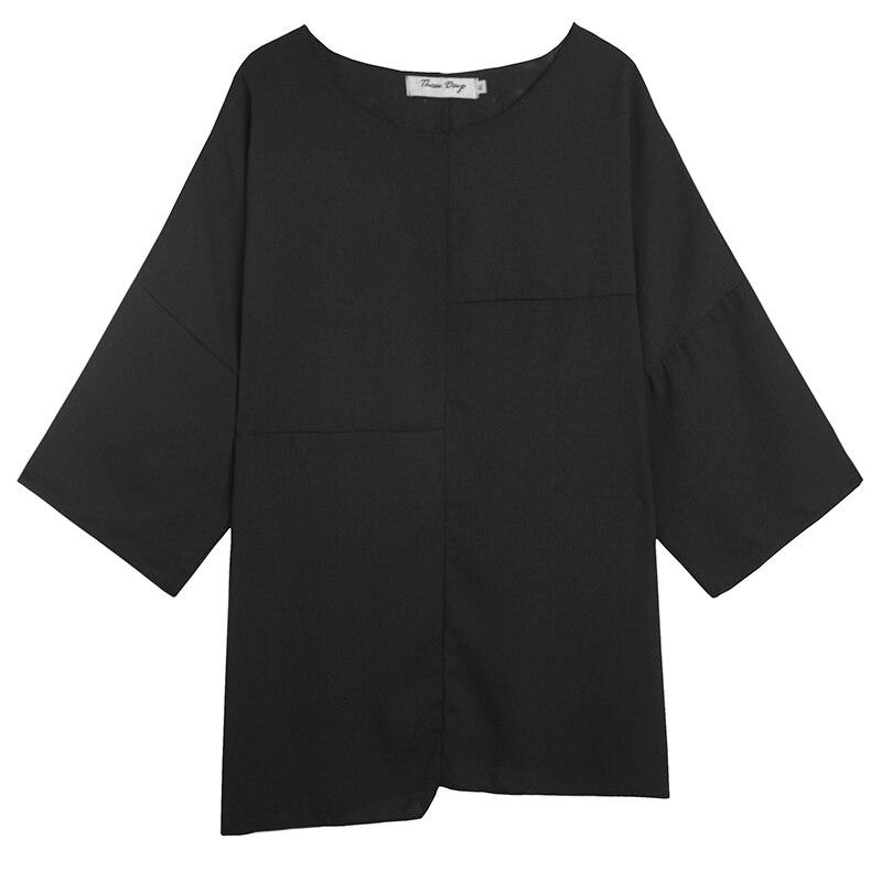 Stile giapponese T Shirt Da Uomo Magliette e camicette Magliette Estate Gotica Nero Ro Buio Tshirt Streetwear Chic Camisetas Hombre Normcore Tshirt